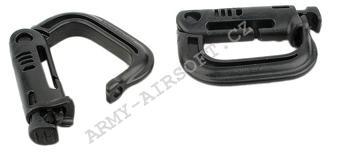 Karabina D-RING 4ks black- ACM