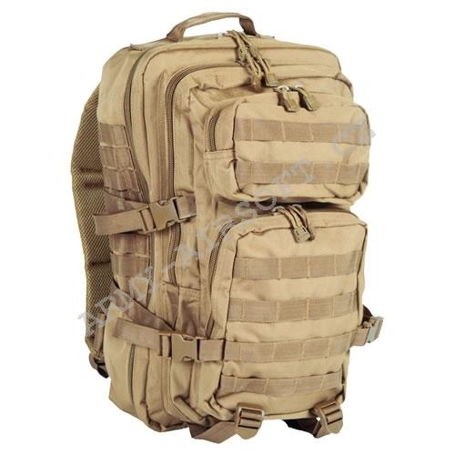 a960960413 Batoh vojenský US ASSAULT PACK 50L - PÍSKOVÝ