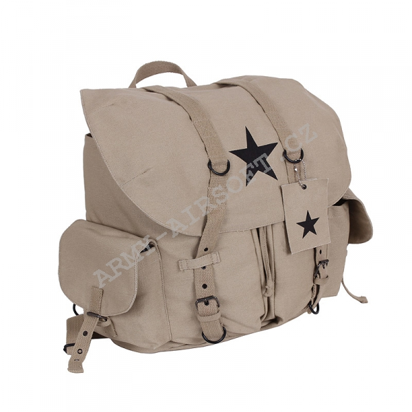 Batoh VINTAGE WEEKEND STAR KHAKI