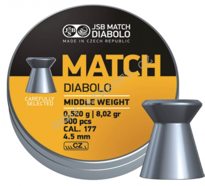 Diabolky JSB Match puška 500ks cal.4,5mm