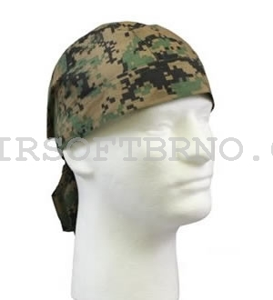 Šátek HEADWRAP WOODLAND DIGITAL CAMO - marpat