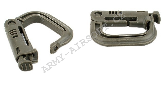 Karabina D-RING 4ks olive - ACM