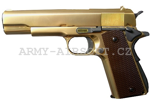 M1911 celokov NEW Gold WE