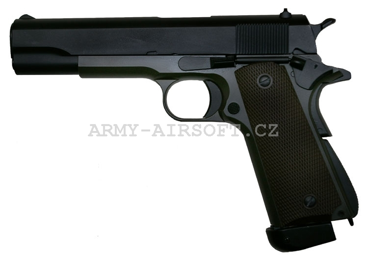 M1911 celokov CO2 OD Green STTi - KJW