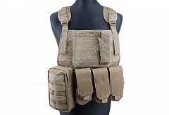 Taktická vesta Plate Carrier Harness - Coyote - ACM | Army Airsoft