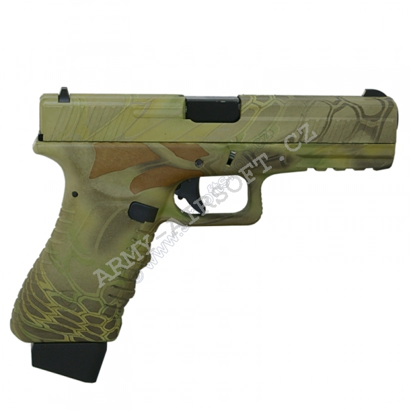 Action Combat 601, blowback, CO2 (ACP601) - Kryptek Mandrake [APS]