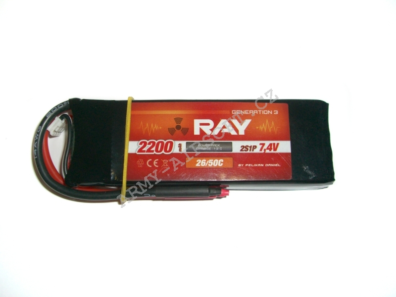 G3 RAY Li-Pol 2200mAh, 7,4V, 26/50C Air pack