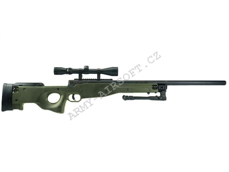 Airsoft Sniper L96 (MB-01C) OD + optika + dvojnožka - Well